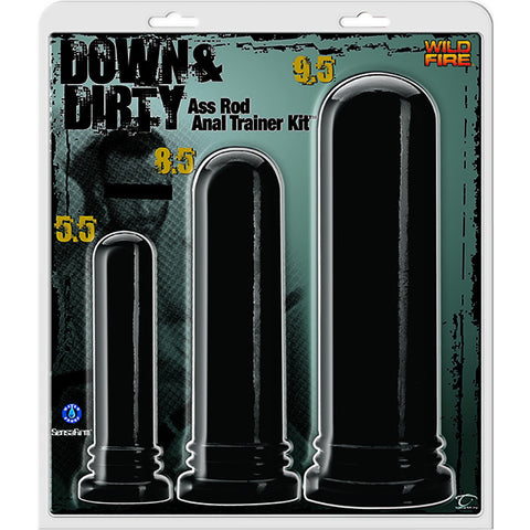 Wildfire Down & Dirty Ass Rod Anal Trainer Kit - Topco Wholesale