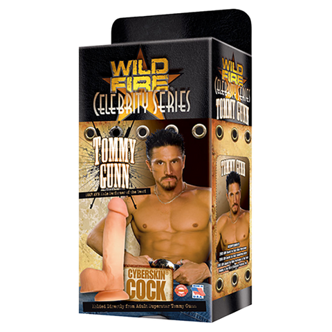 Wildfire Celebrity Series Tommy Gunn CyberSkin Cock - Topco Wholesale  - 1