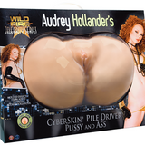 Wildfire® Celebrity Series Audrey Hollander's CyberSkin® Pile Driver Pussy & Ass - Topco Wholesale
