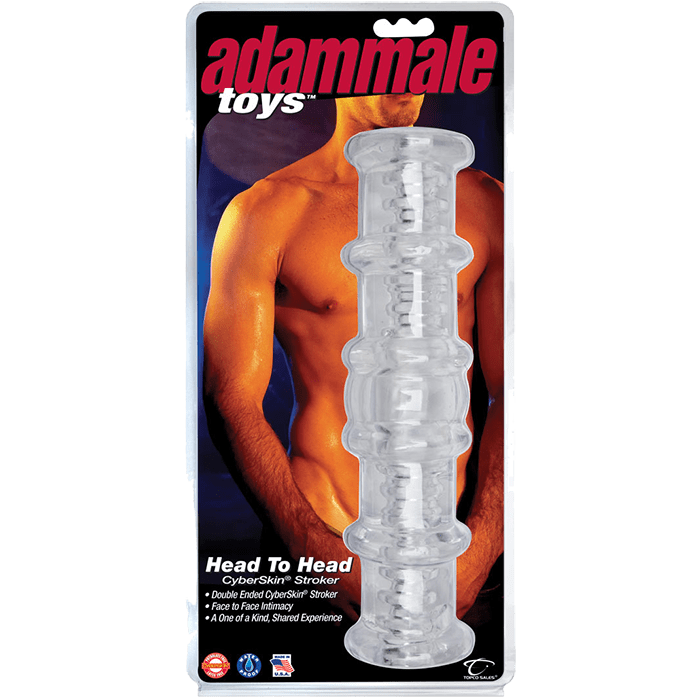Adam Male Toys Head to Head CyberSkin Stroker - Topco Wholesale
