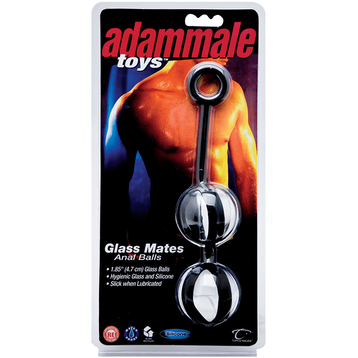 AdamMale® Toys™ Glass Mates Anal Balls - Topco Wholesale