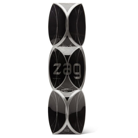 CLOSEOUT - UltraZone Zig Zag Rechargeable Extreme Bend Self-Heating Vibe, Black - Topco Wholesale