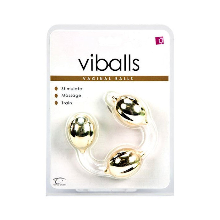 CLOSEOUT - Funzone ViBalls, Gold Triple - Topco Wholesale