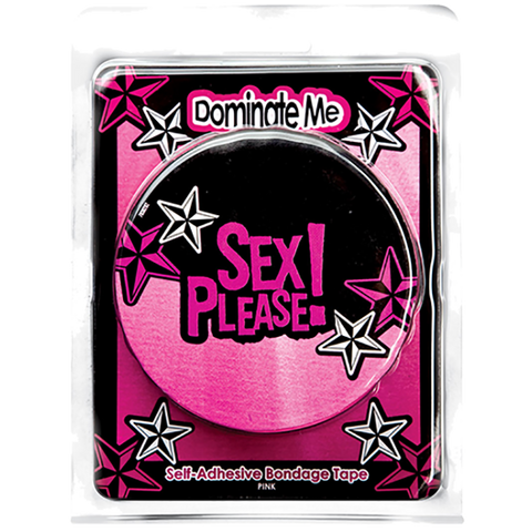 Sex Please! Dominate Me Self-Adhesive Bondage Tape, Pink - Topco Wholesale