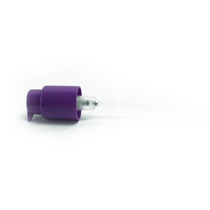 CLOSEOUT - PUMP; 24/410, 0.5ML, MAUVE - Topco Wholesale