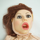 CLOSEOUT - DOLL; MASK W/LONG BROWN HAIR, ACCESSORIES INCLUDED, BULK