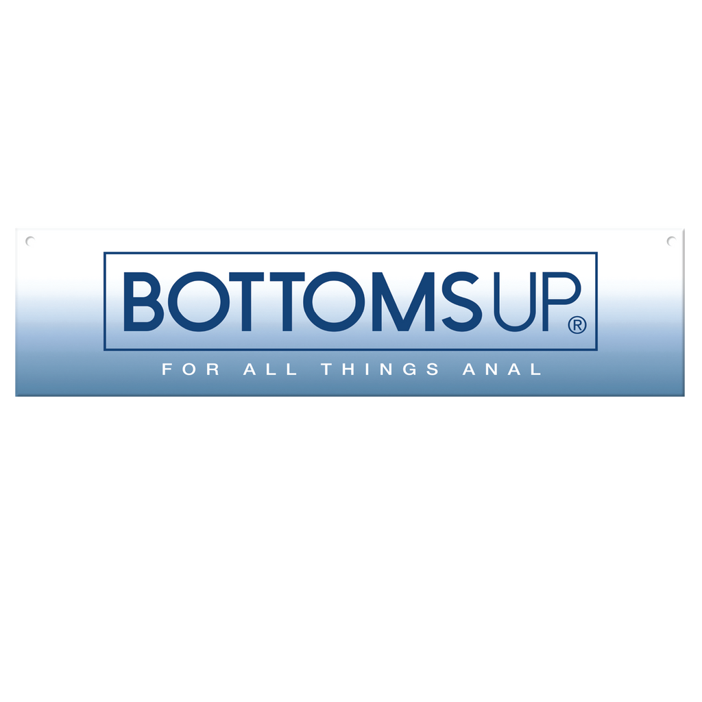"Bottoms Up® Horizontal Header Sign, 23.5"" x 5.5"" - Topco Wholesale"