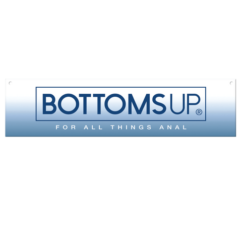 "Bottoms Up® Horizontal Header Sign, 23.5"" x 5.5"""