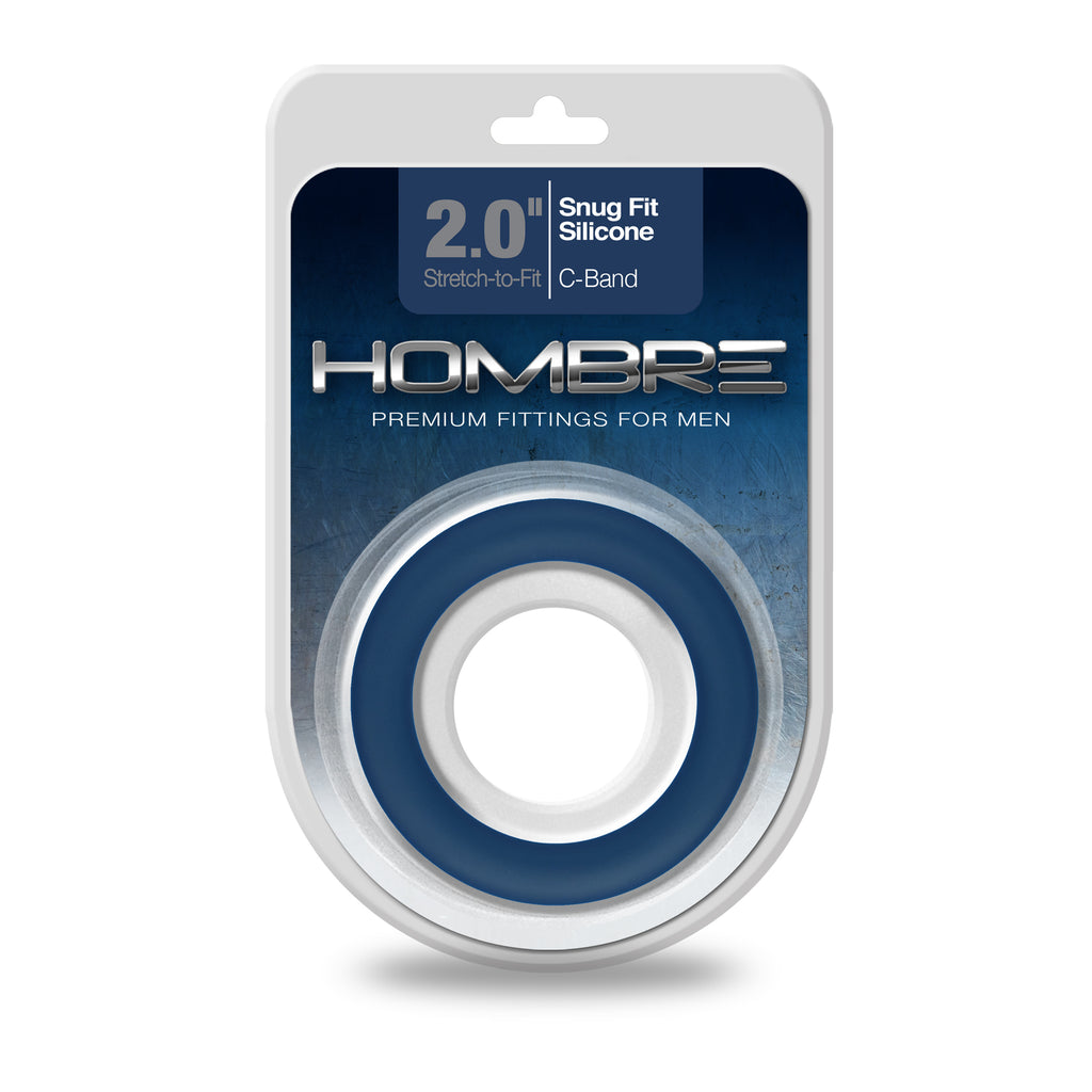 Hombre Snug-Fit Silicone C-Band, Navy - Topco Wholesale