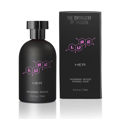 Lure® Black Label For Her, Pheromone Infused Personal Scent 2.5 fl oz (74 ml) Bottle - Topco Wholesale