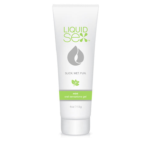 Liquid Sex Oral Sex Gel, Mint 4 oz. (113 g) Tube - Topco Wholesale