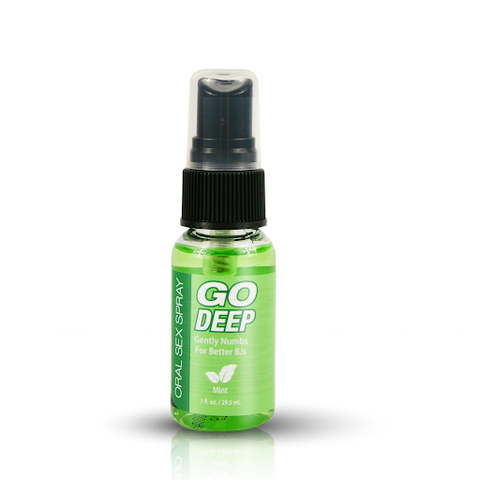 Go Deep Oral Sex Spray, Mint 1 fl. oz. (29.57 mL) Bottle