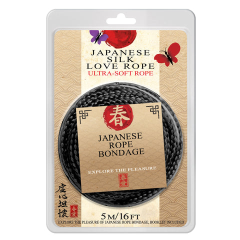 Japanese Silk Love Rope™ 16 ft. (5M), Black