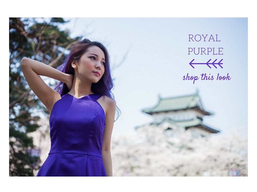 royal purple, royal purple racer back dress, stylish chic, feminine