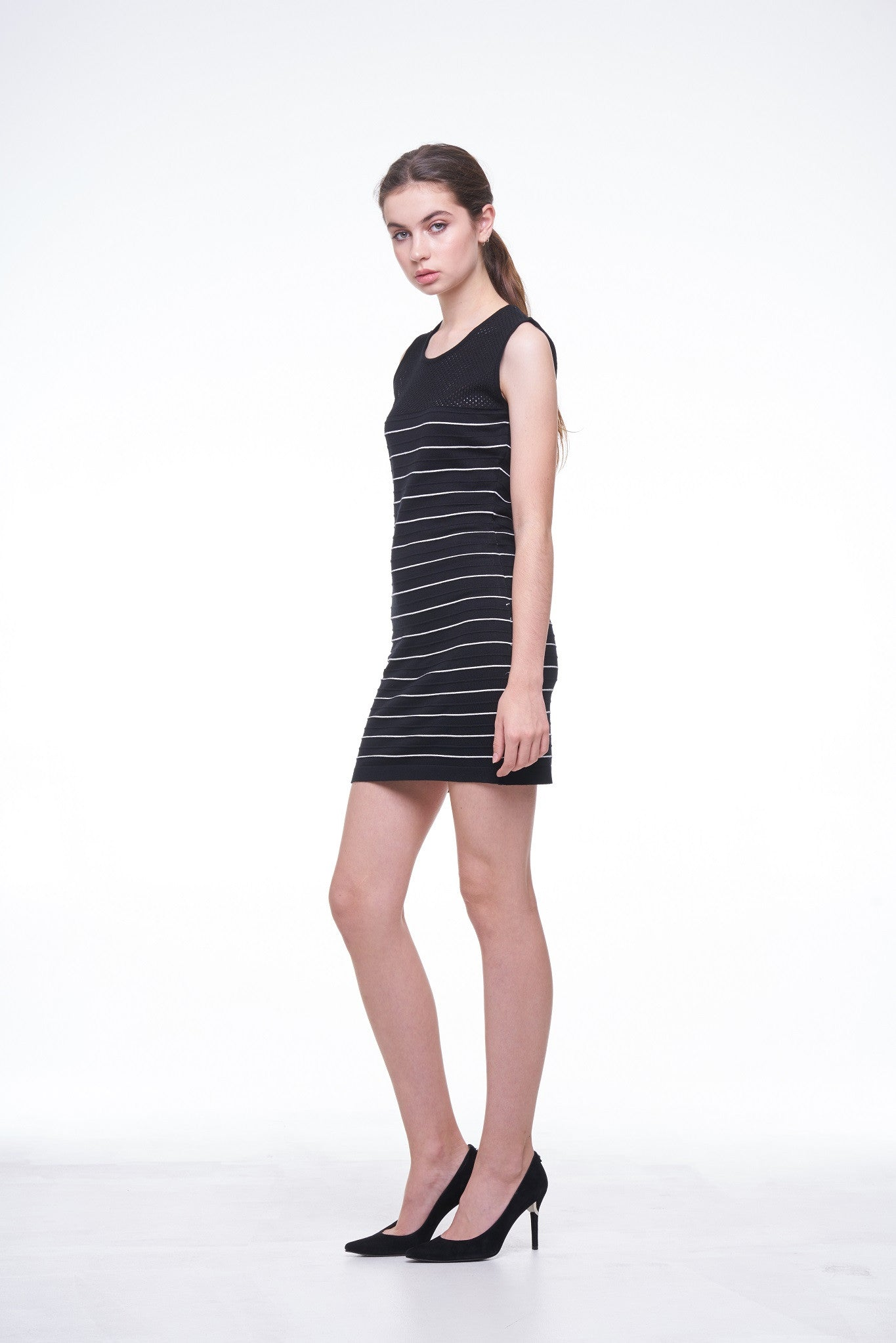 Knit Striped Sleeveless Dress - Not in Stock