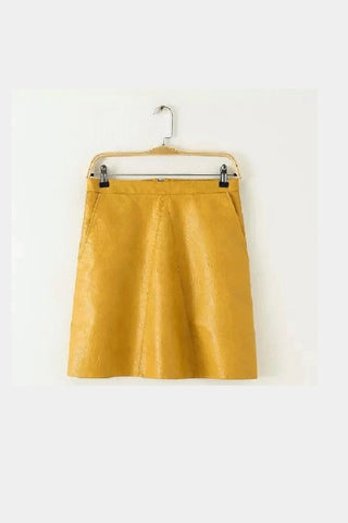 Mustard A-Line Skirt - Sold Out