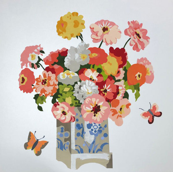 New work by Denise Fiedler: Bouquet in Enameled Vase