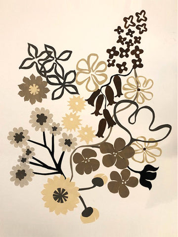Brown Floral Dyptich 2 by Denise Fiedler