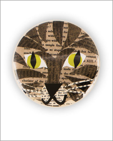 "2.25"" tabby cat pocket mirror"