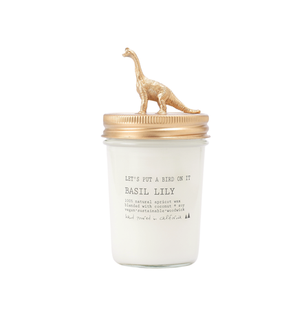Gold Brachiosaurus • 8 oz Vegan Candle