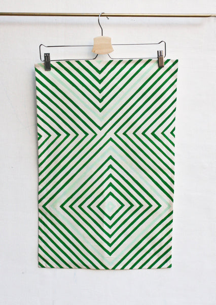 Concentric • Hand Printed Tea Towel - LET'S STAY IN