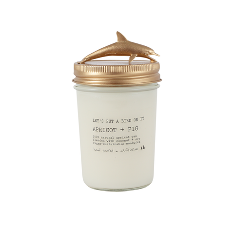 Gold Dolphin • 8 oz Vegan Candle