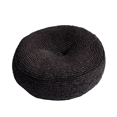 Ricestraw Floor Cushion Black