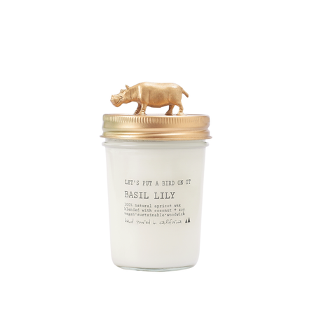 Gold Hippopotamus • 8 oz Vegan Candle