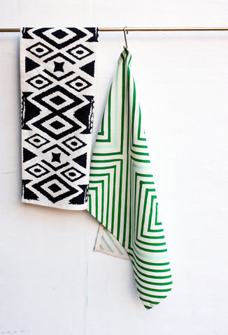Ikat • Hand Printed Tea Towel