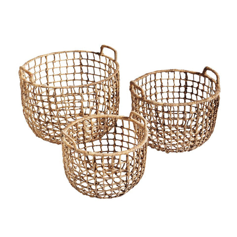 Iron Frame Basket Natural