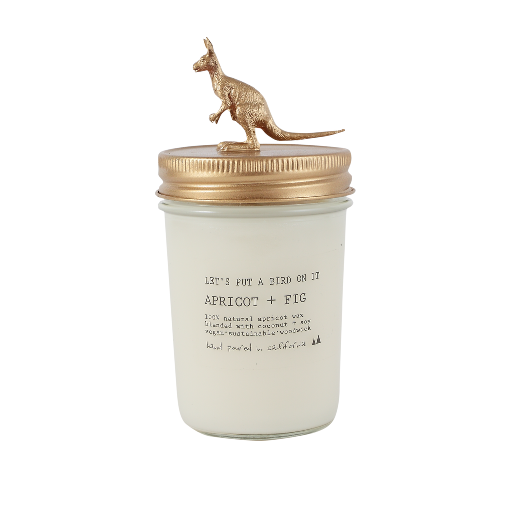 Gold Kangaroo • 8 oz Vegan Candle