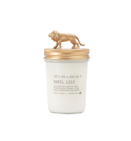 Gold Lion • 8 oz Vegan Candle