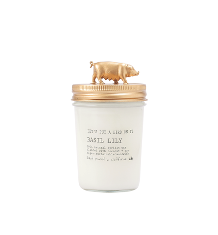 Gold Pig • 8 oz Vegan Candle