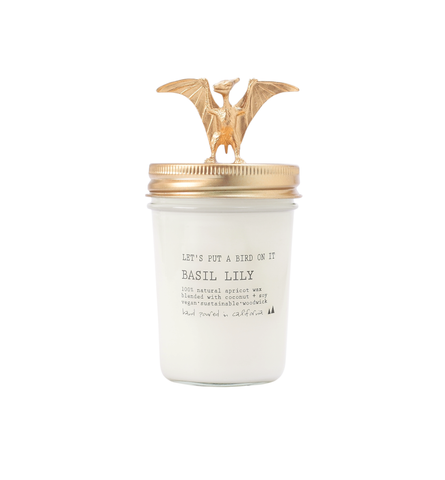 Gold Pterodactyl • 8 oz Vegan Candle