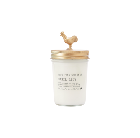 Gold Rooster • 8 oz Vegan Candle