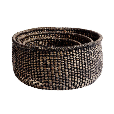 Round Basket Blackwashed