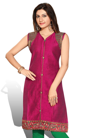 Indian Kurti_Purple_Embroidery_5