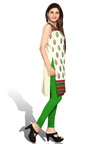 Indian Kurti_Cream & Multi_Embroidery_4