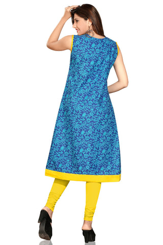 Indian Kurti_Blue_Embroidery_3