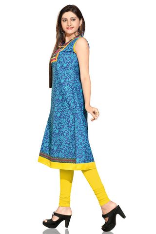 Indian Kurti_Blue_Embroidery_2