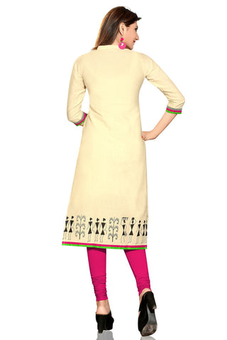 Indian Kurti_Cream_Printed_2