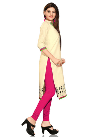 Indian Kurti_Cream_Printed_3