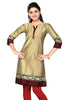 Gold With Boarder Designer Kurti