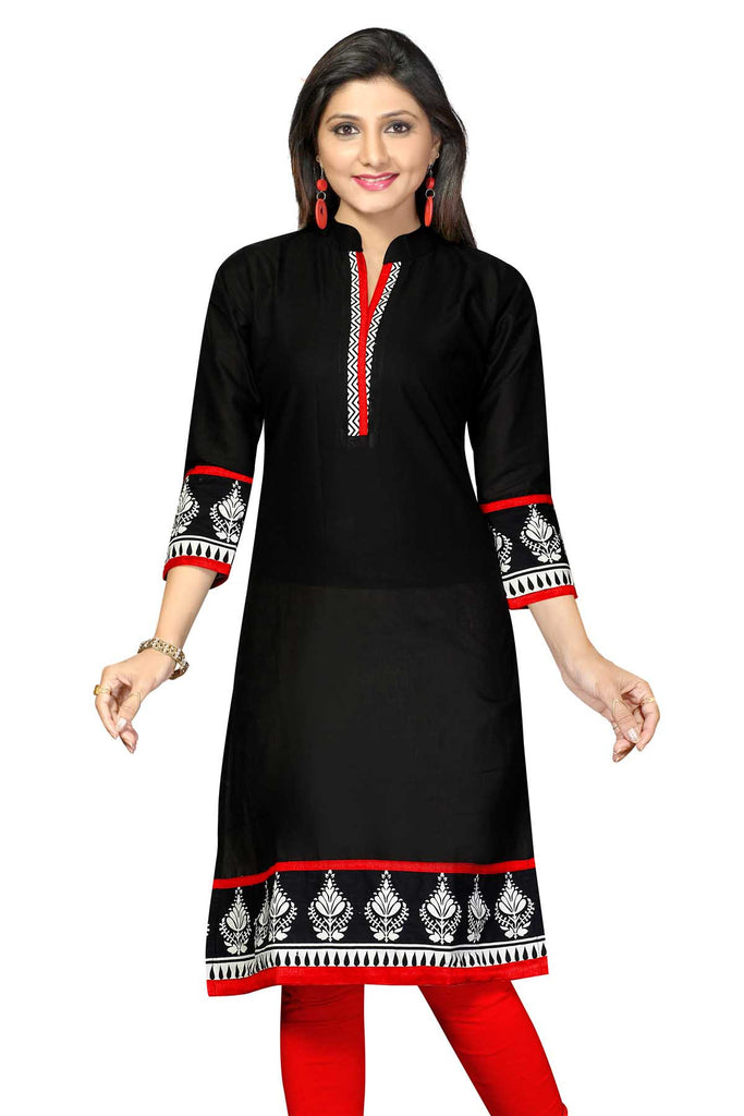 Indian Kurti_Black_Printed_2