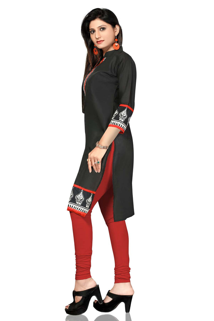 Indian Kurti_Black_Printed_3