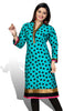Indian Kurti_Blue_Printed_2