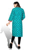 Indian Kurti_Blue_Printed_3