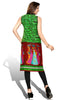 Indian Kurti_Green & Multi_Printed_4