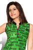 Indian Kurti_Green & Multi_Printed_5