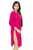 Pink Cotton Designer Kurti with 3/4 sleeves